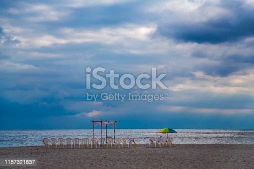 Dramatic Sky above Empty Beach