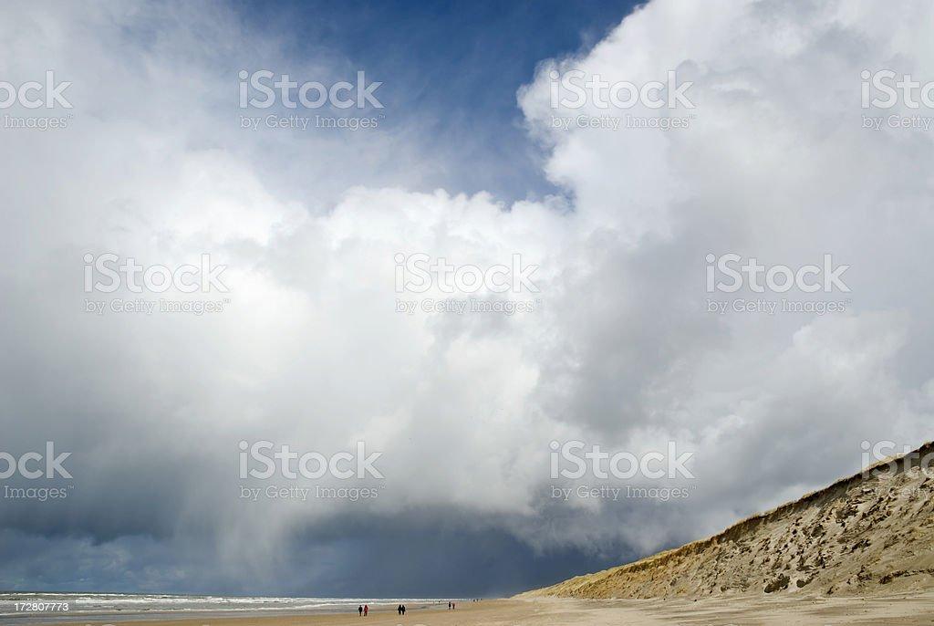 Dramatic Sky and Sea royalty-free stock photo