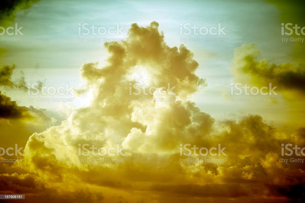 Dramatic Sky and Storm Clouds stock photo