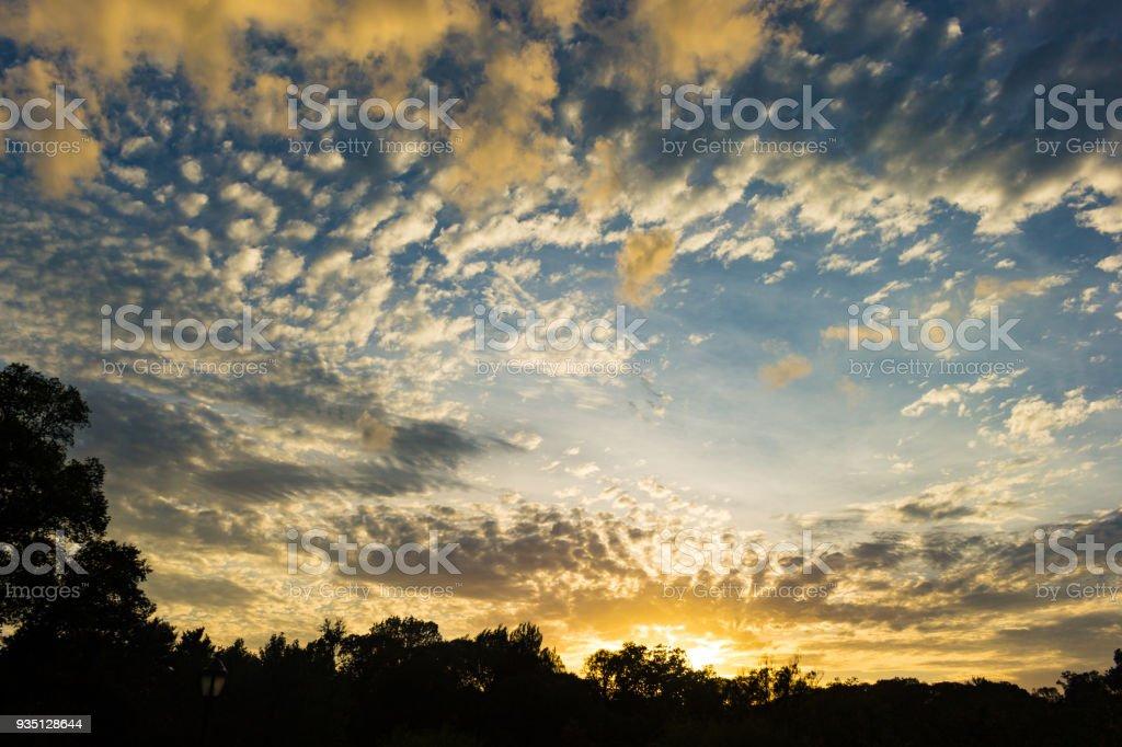 Dramatic Sky At Sunset stock photo