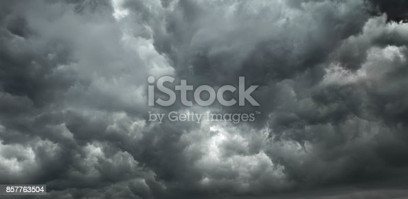 1089986346 istock photo Dramatic sky background - dark clouds during a storm 857763504