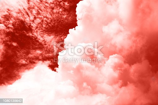istock Dramatic sky before storm with big clouds. 1080135642