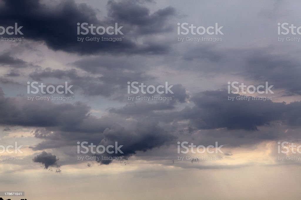 Dramatic sky before the storm royalty-free stock photo