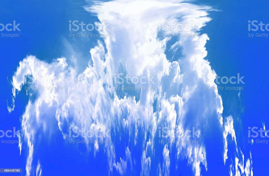 Dramatic sky cloudy splash background stock photo