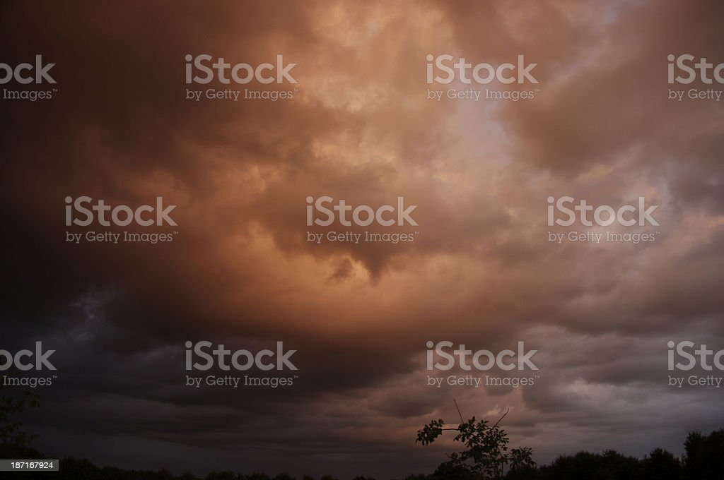 Dramatic sky coming up royalty-free stock photo