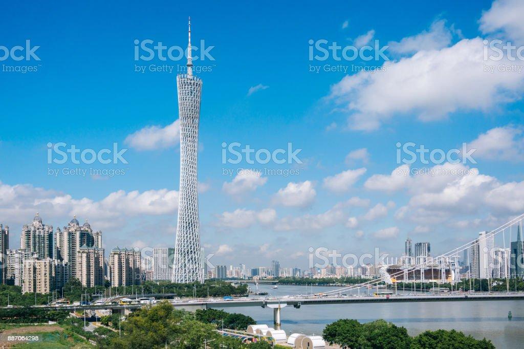Dramatischer Himmel in Guangzhou China – Foto