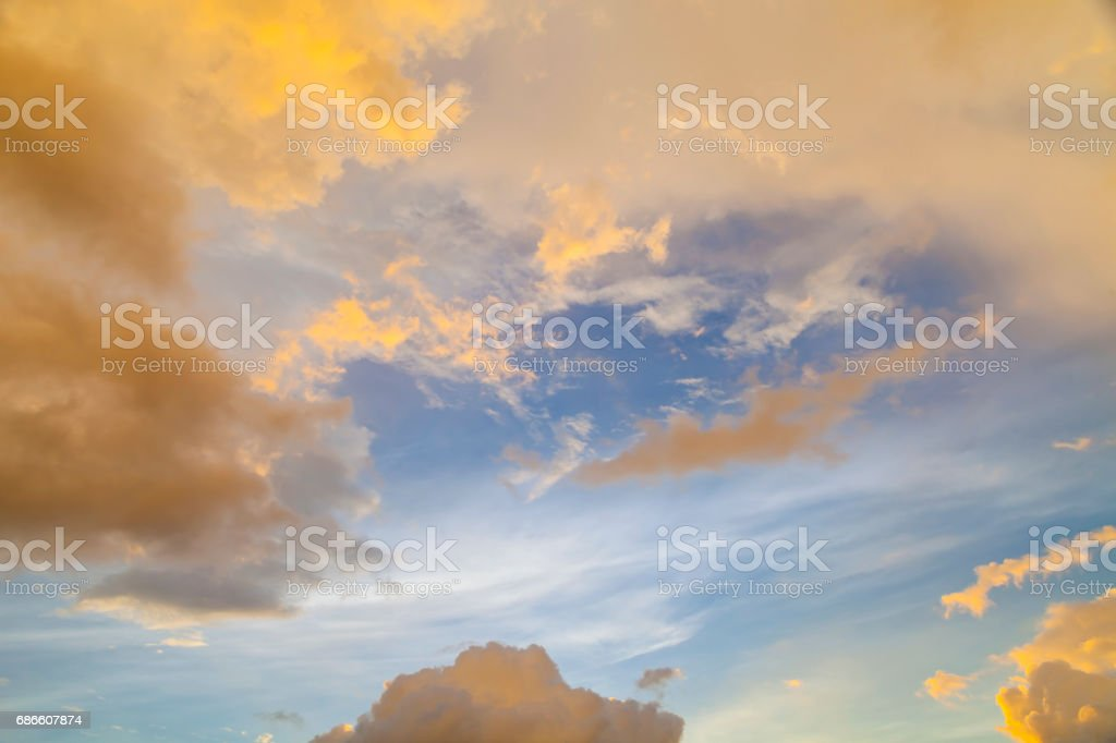Dramatic sky in sunset. royalty-free stock photo