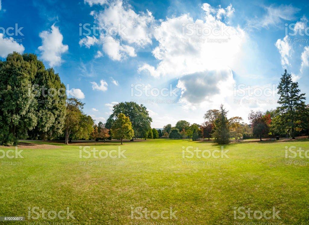 Dramatic Sky Over A Public Park