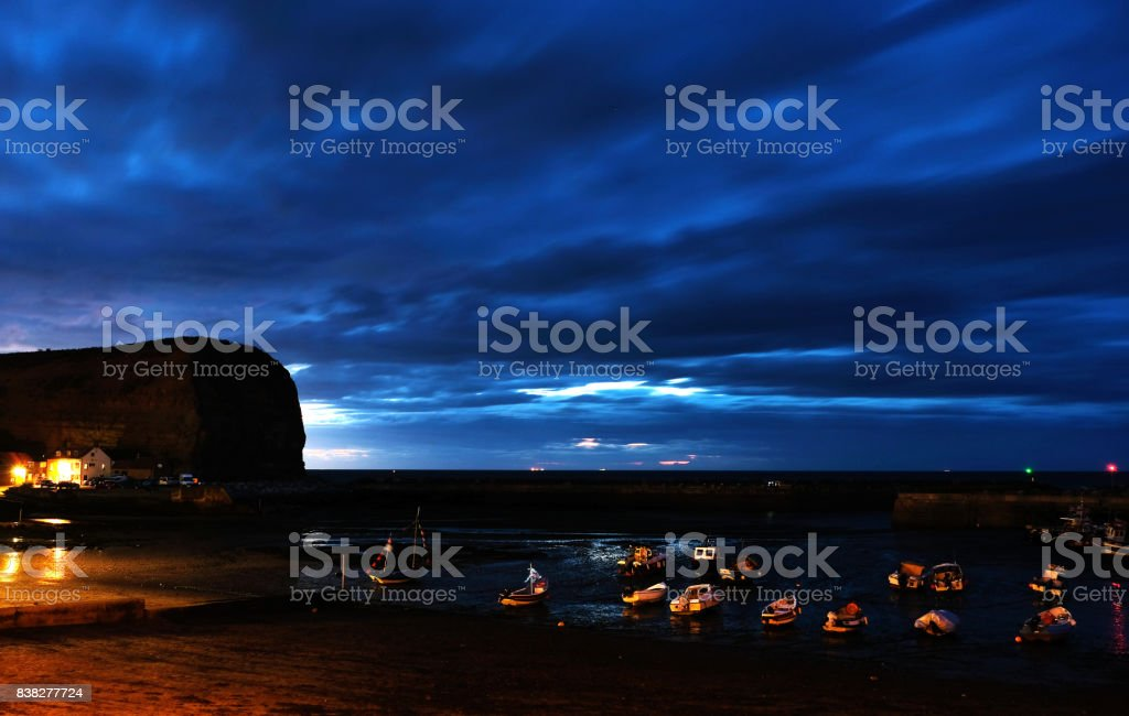Dramatic Sky Over Harbour stock photo