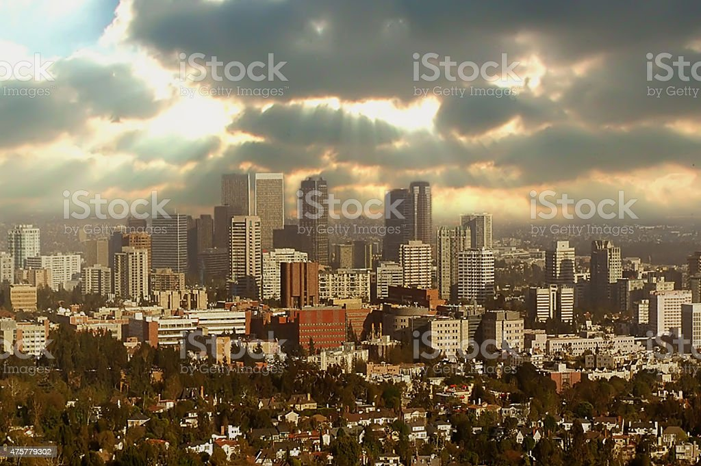 Dramatic Sky Over Los Angeles stock photo