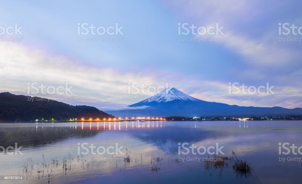Dramatic sky over Mt.Fuji : Japan stock photo