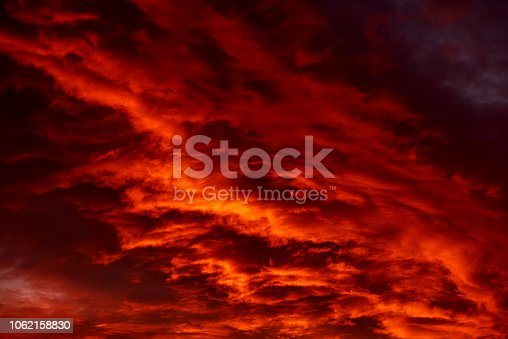 abstract horizontal shot of red sky like fire.