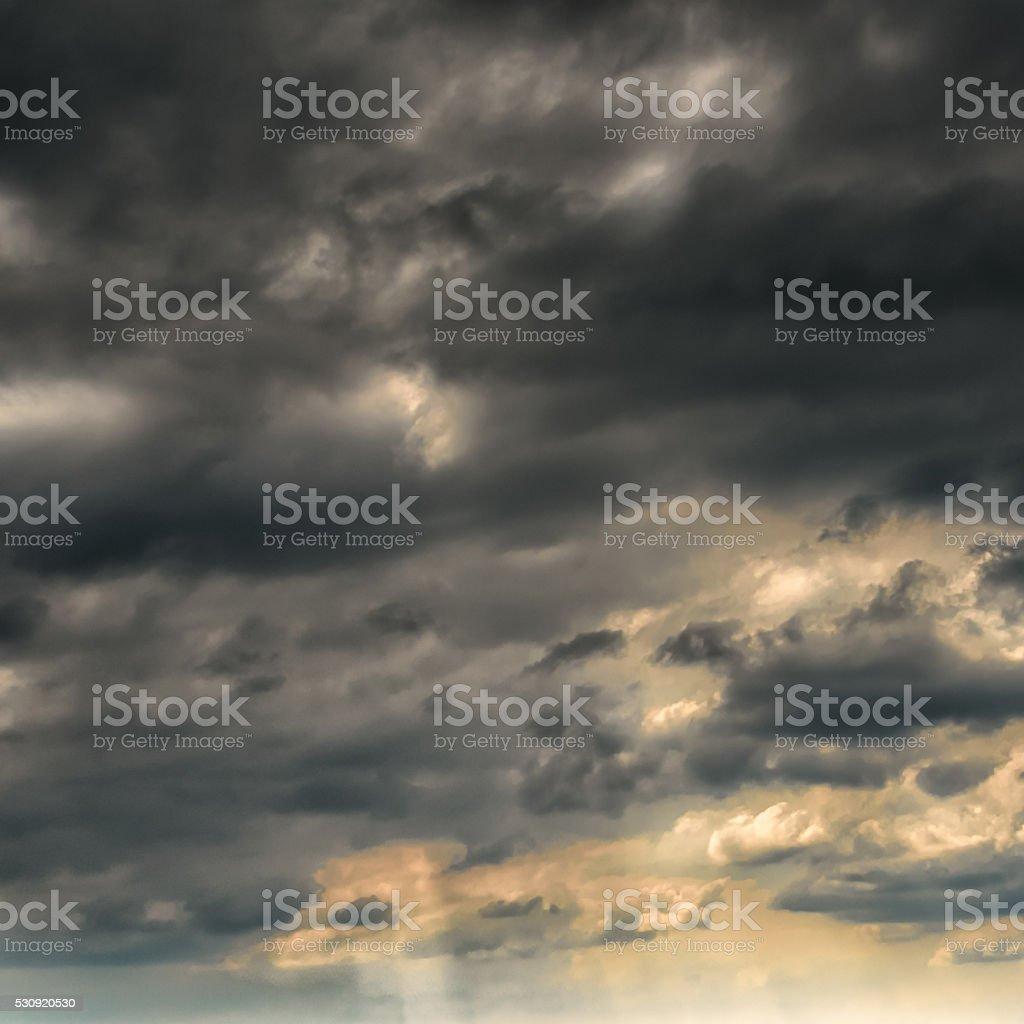 dramatic sky stock photo