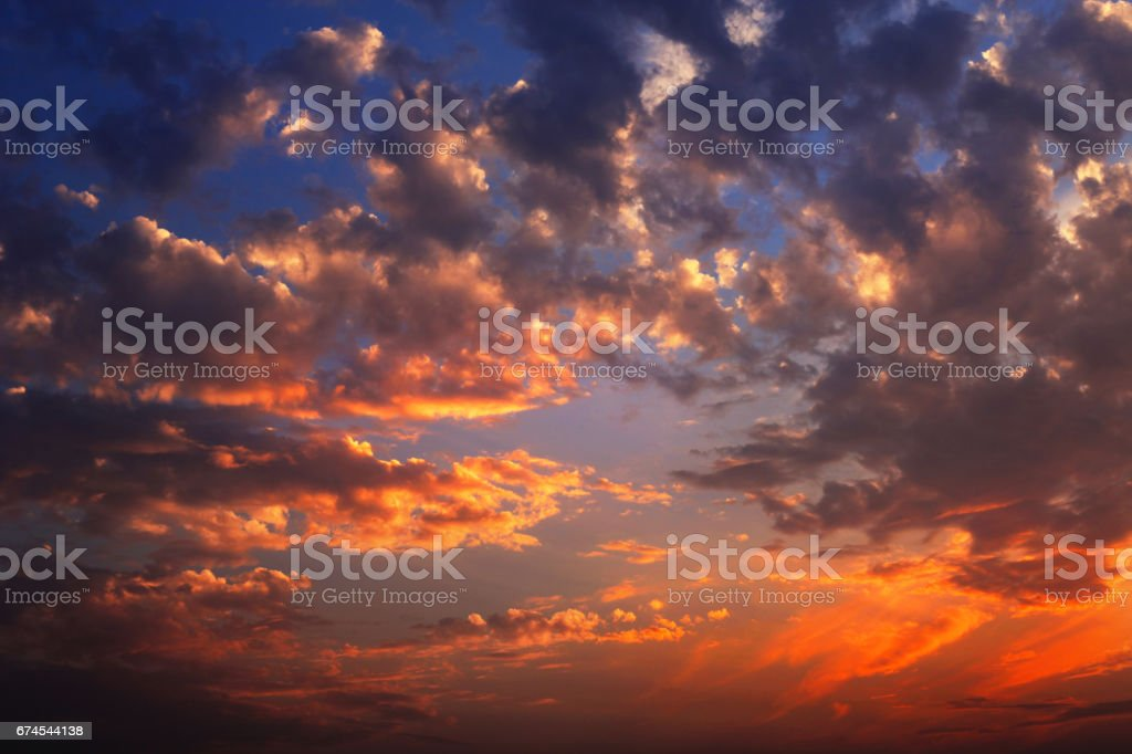 Dramatic sky during sunset time.