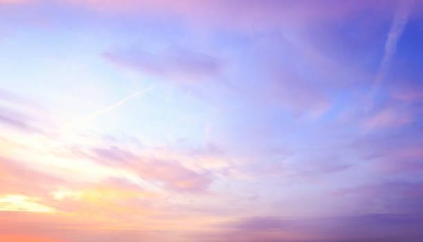 Dramatic sky sunset stock photo