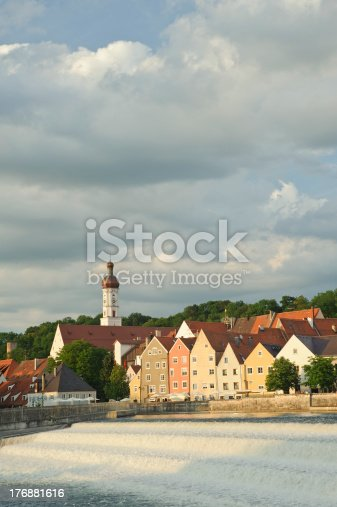 948424058istockphoto dramatic sky with beautiful city scenery in Landsberg 176881616