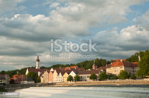 948424058istockphoto dramatic sky with beautiful city scenery in Landsberg,Germany. 176865507