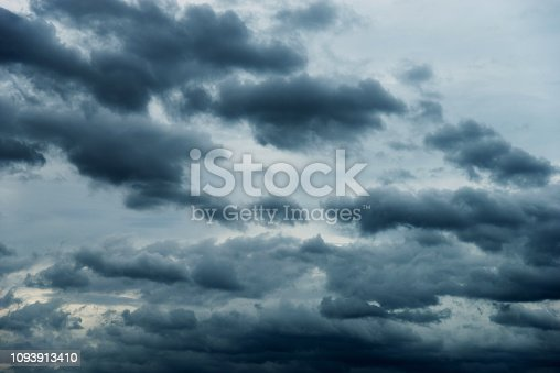 istock Dramatic sky with cumulonimbus clouds 1093913410