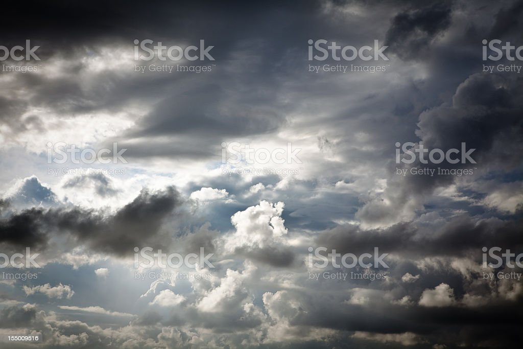 dramatic sky with rain clouds royalty-free stock photo