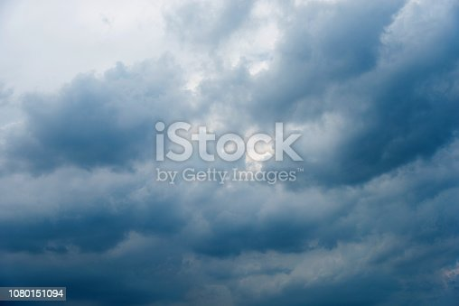 istock Dramatic sky with storm clouds 1080151094