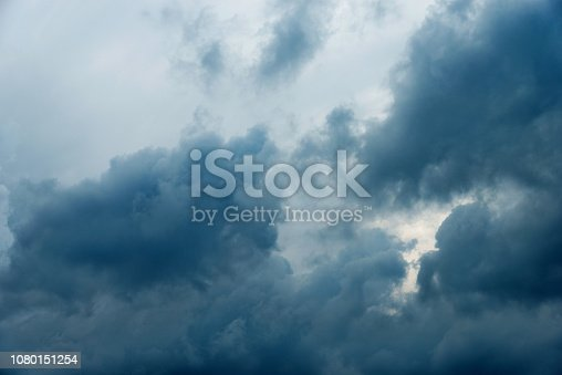 istock Dramatic sky with storm clouds 1080151254