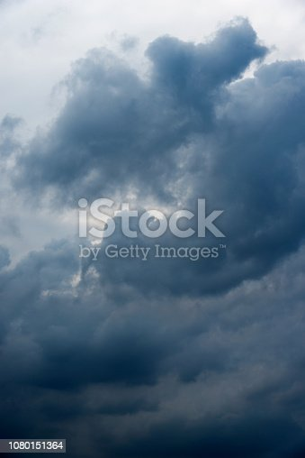 istock Dramatic sky with storm clouds 1080151364