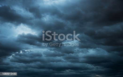 istock Dramatic sky with storm clouds 1093913430
