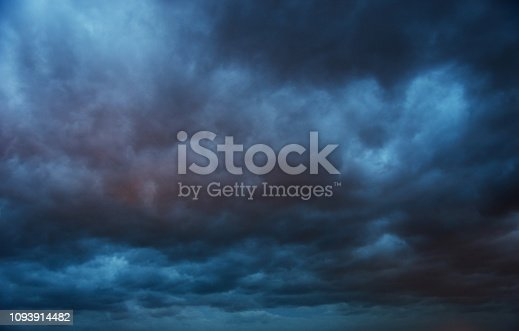 istock Dramatic sky with storm clouds 1093914482