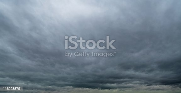 istock Dramatic sky with storm clouds 1132238751