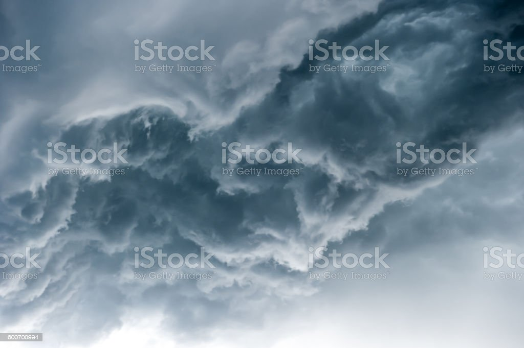 Dramatic sky with stormy clouds stock photo