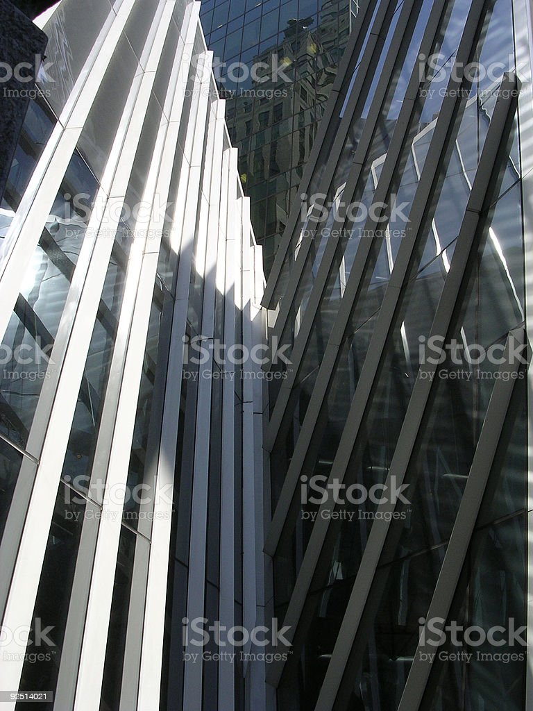 Dramatic Skyscrapers, NYC_1 royalty-free stock photo