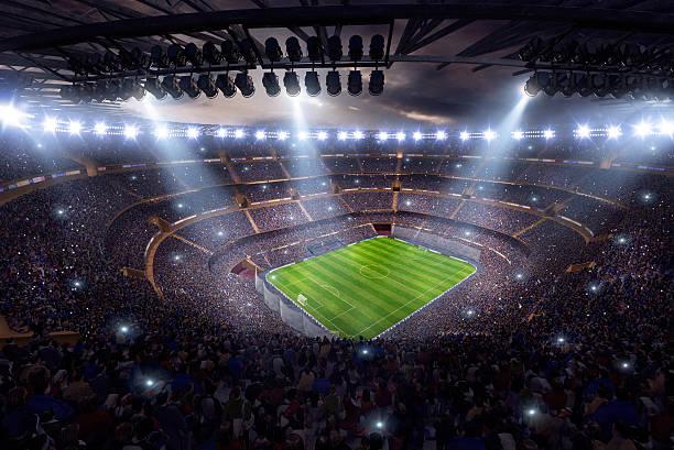 Beeindruckende Fußballstadion 3d render – Foto