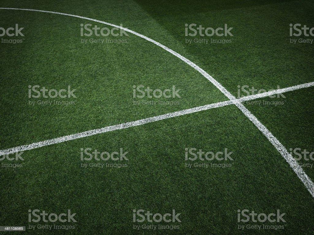 Dramatic soccer stadium grass royalty-free stock photo