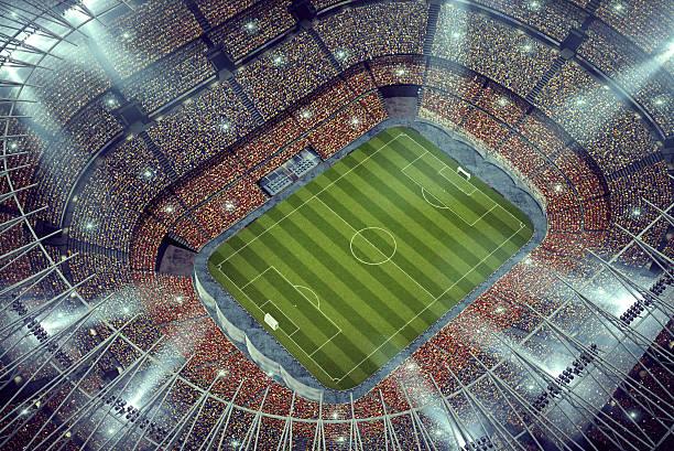 Das beeindruckende Fußballstadion Obermaterial Blick – Foto