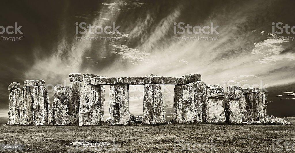 dramatic stonehenge stock photo