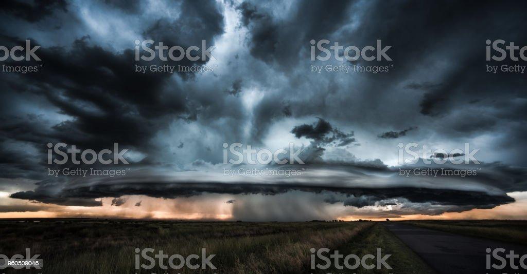 Dramatic storm and tornado