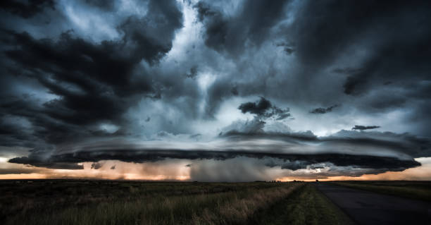 dramatic storm and tornado - dramatic sky stock pictures, royalty-free photos & images