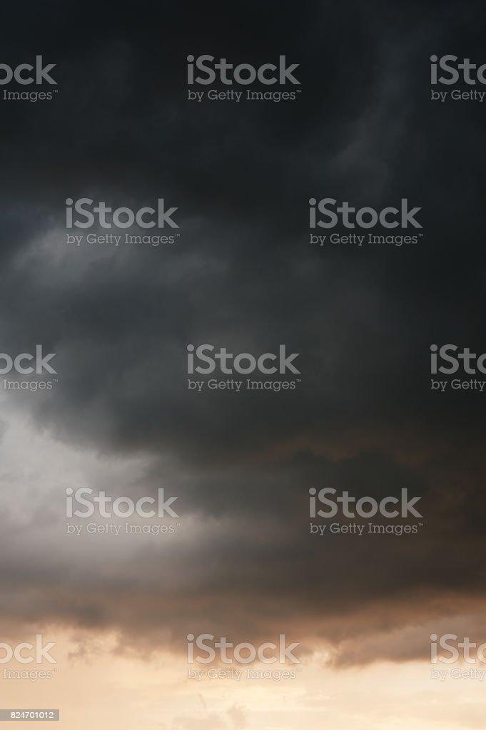 Dramatic storm cloud dark sky weather photo