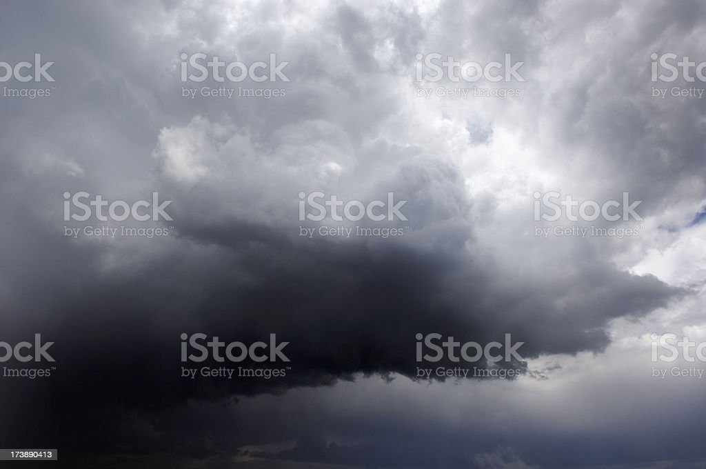 Dramatic storm clouds royalty-free stock photo