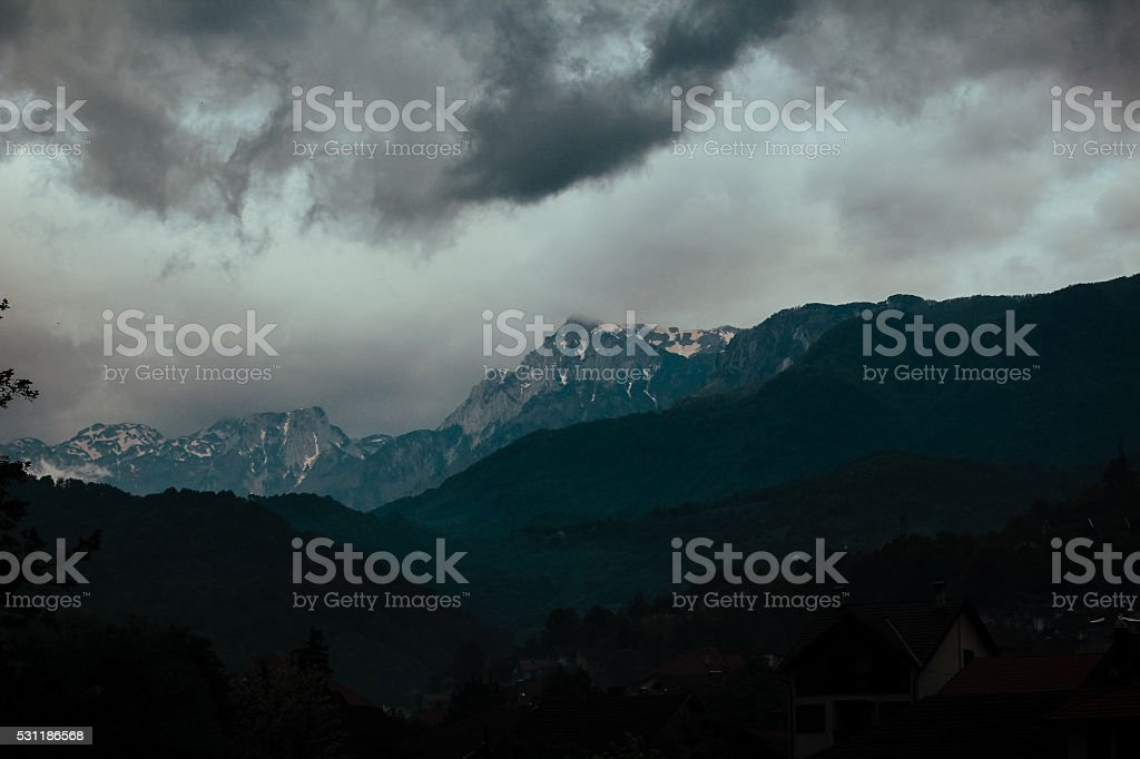 Dramatic Storm Clouds stock photo