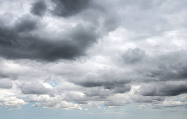 Dramatic stormy clouds background stock photo