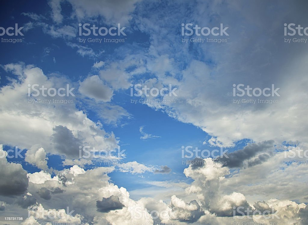 Dramatic Stormy Sky and Clouds Background royalty-free stock photo