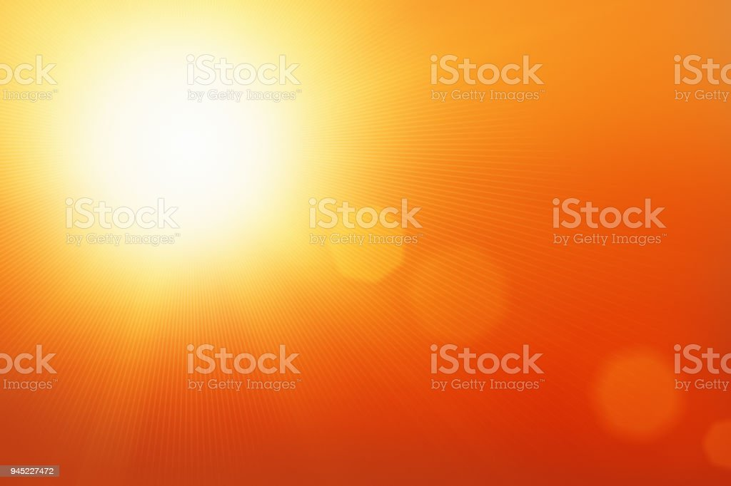 Dramatic sunburst with space for text stock photo