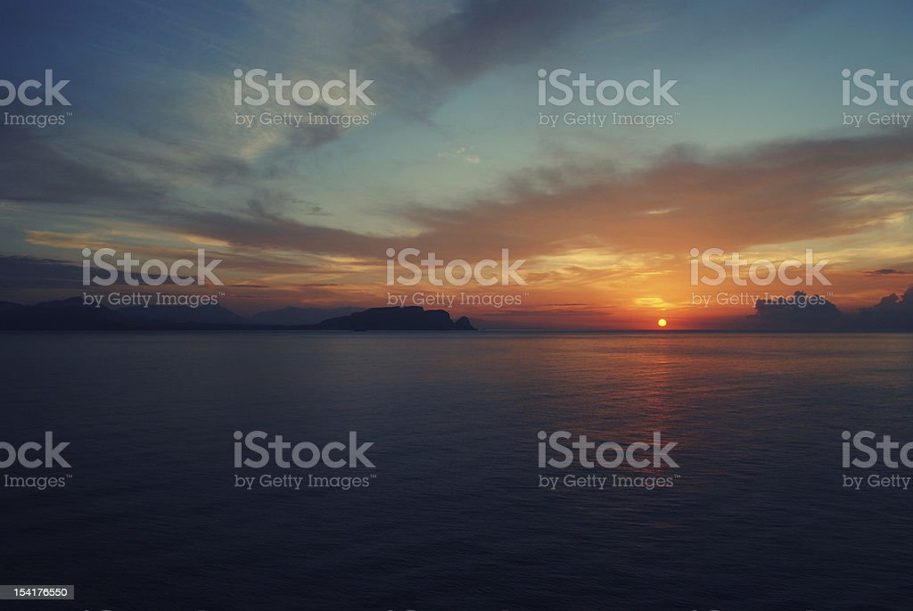 Dramatic Sunrise at the Adriatic Sea royalty-free stock photo
