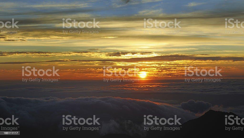Dramatic Sunrise, Haleakala Volcano, Maui, Hawaii (XXXL) royalty-free stock photo