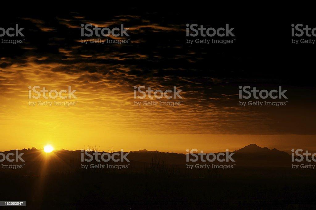 Dramatic Sunrise royalty-free stock photo