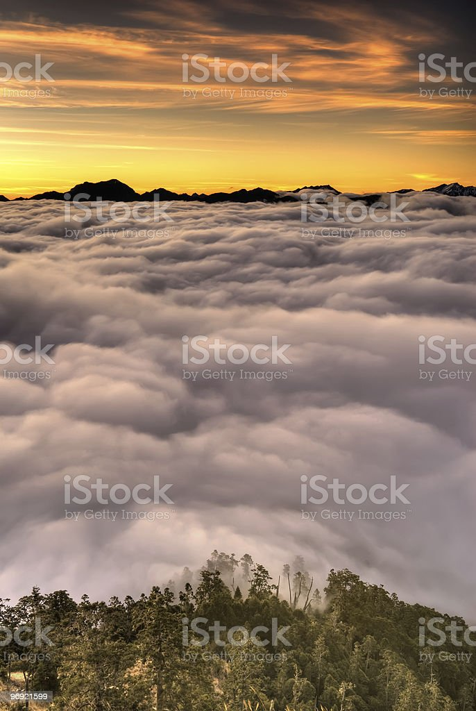 Dramatic sunrise scenic royalty-free stock photo