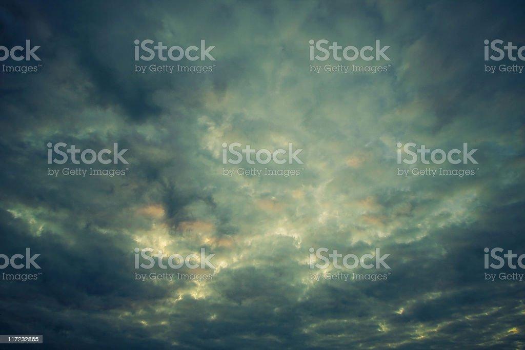 Dramatic Sunrise with vignetting effect royalty-free stock photo