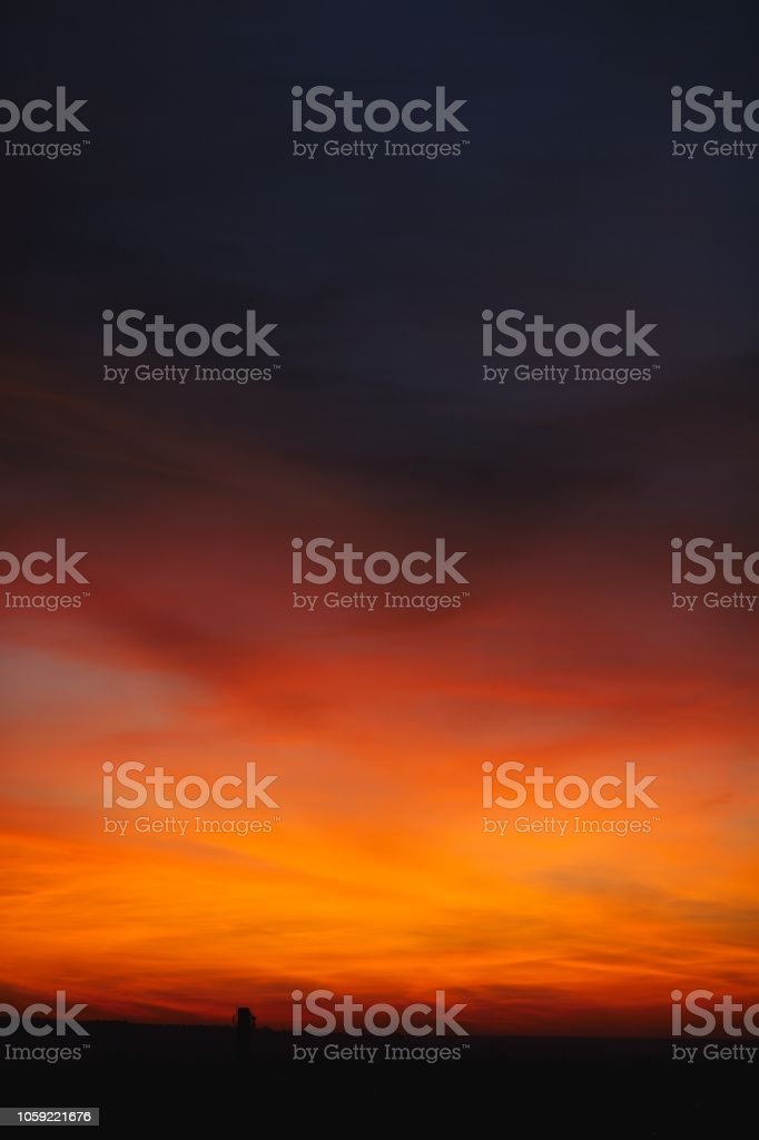 Dramatic sunset and sunrise sky. Beautiful and colorful background