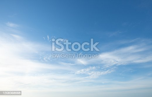 dramatic sunset and sunrise sky nature background with white clouds for design concept and isolated text material